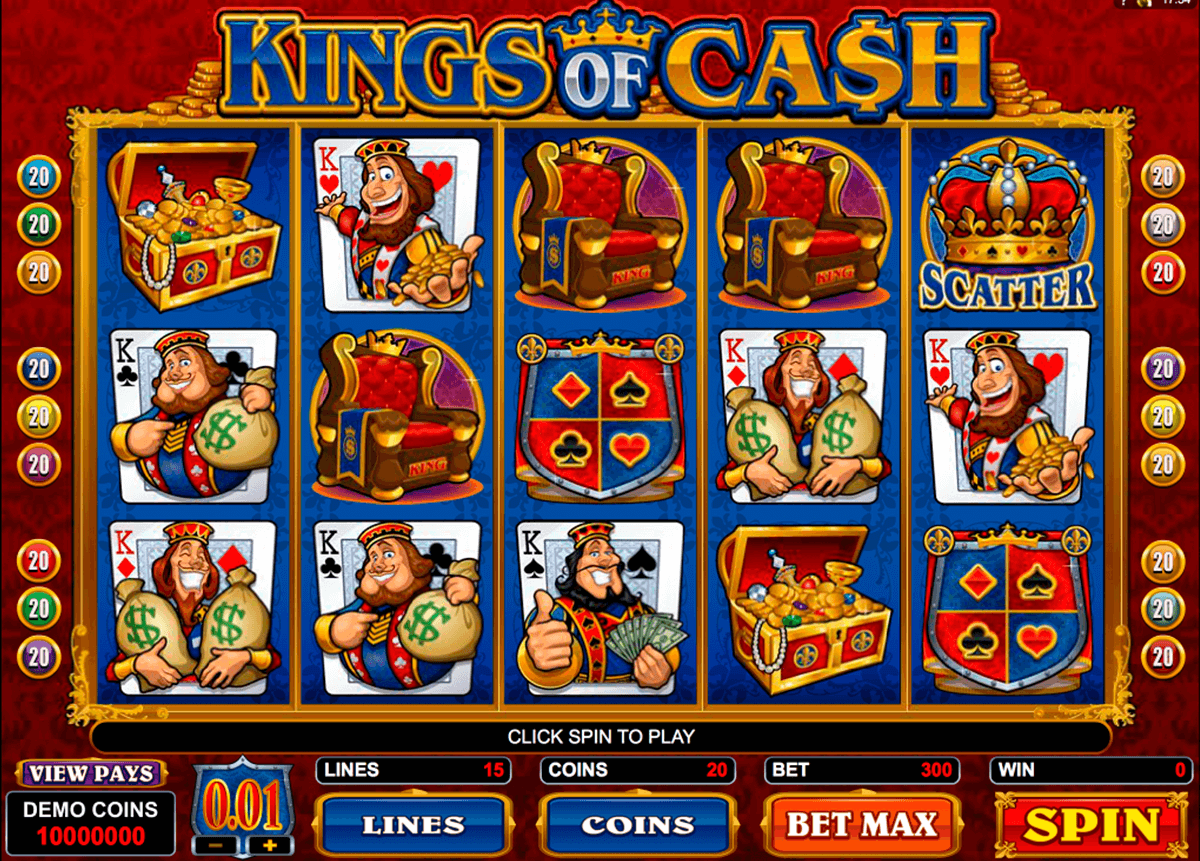 kings of cash microgaming casinospil online