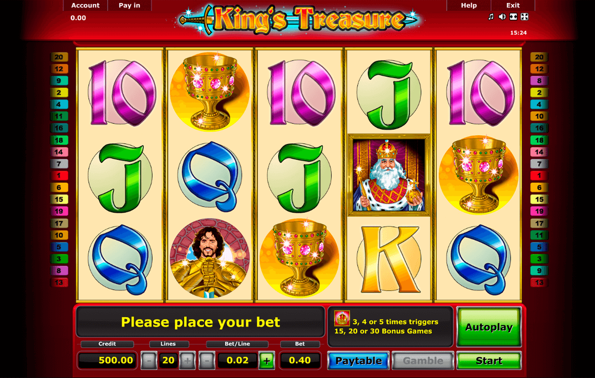 kings treasure novomatic casinospil online