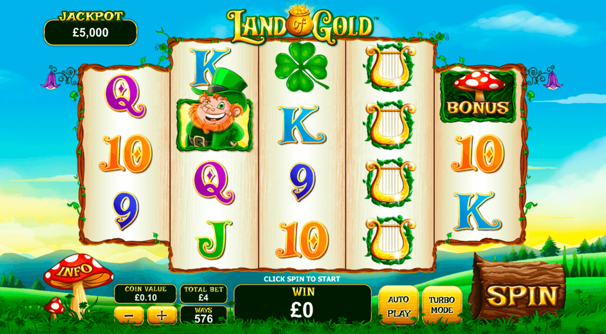 land of gold playtech casinospil online