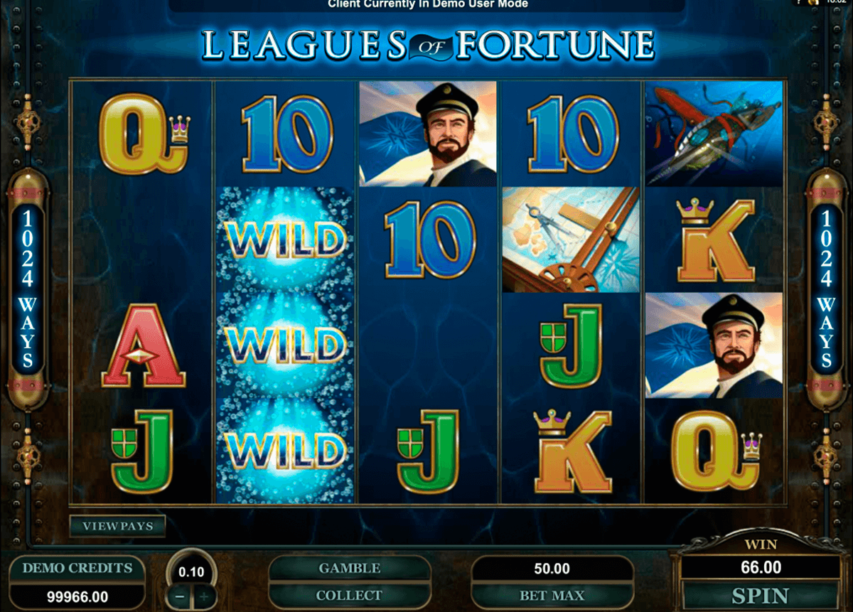 leagues of fortune microgaming casinospil online