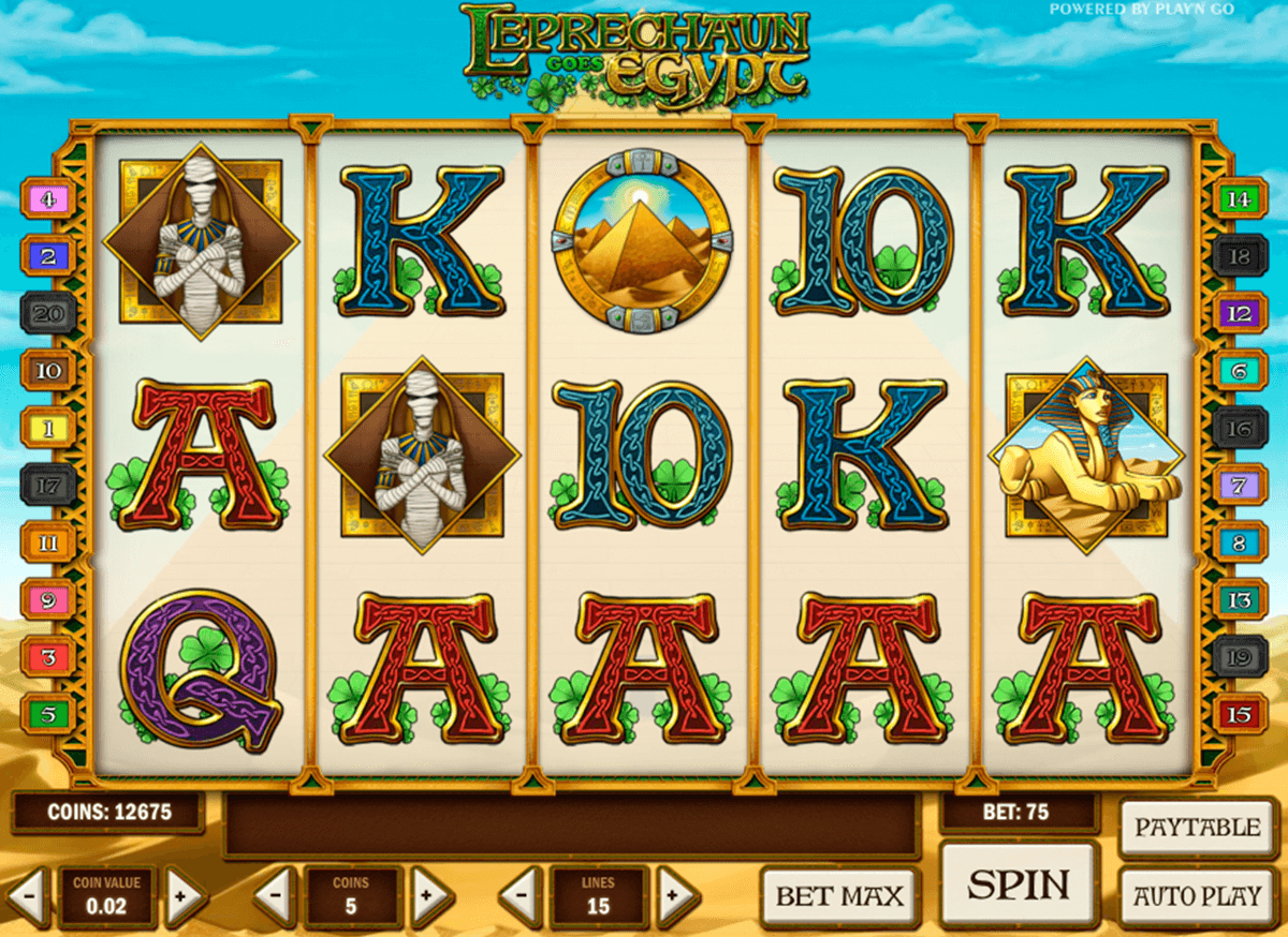 leprechaun goes egypt playn go casinospil online