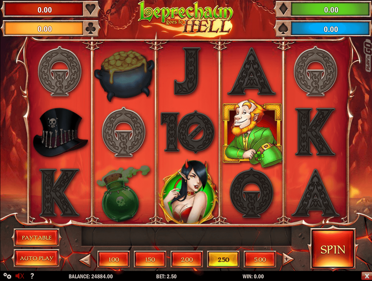 leprechaun goes to hell playn go casinospil online