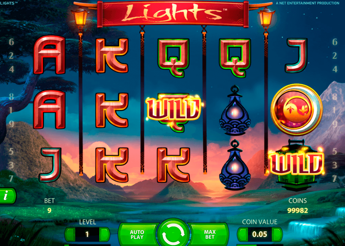 lights netent casinospil online
