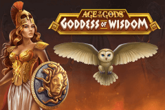 logo age of the gods goddess of wisdom playtech spillemaskine