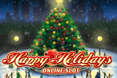 logo happy holidays microgaming spillemaskine