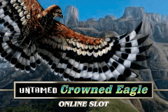 logo untamed crowned eagle microgaming spillemaskine