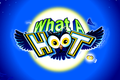 logo what a hoot microgaming spillemaskine