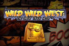 logo wild wild west the great train heist netent spillemaskine