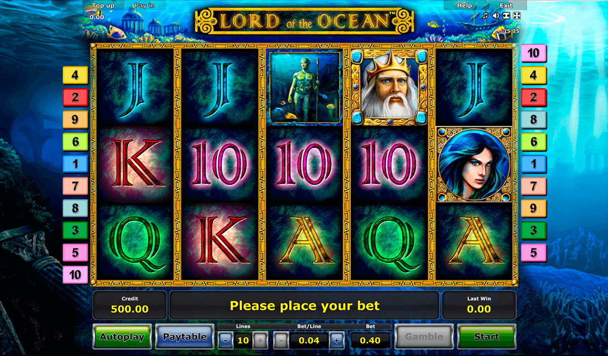 lord of the ocean novomatic casinospil online