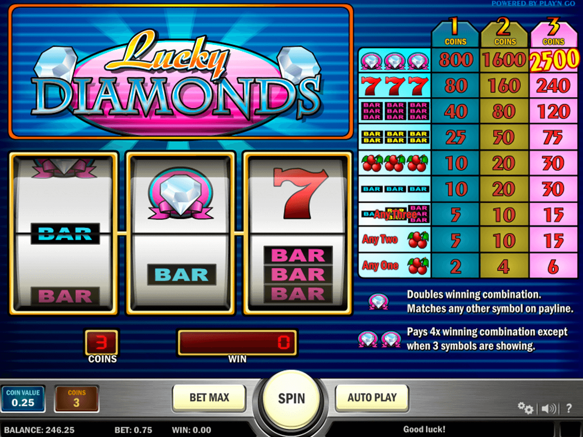 lucky diamonds playn go casinospil online