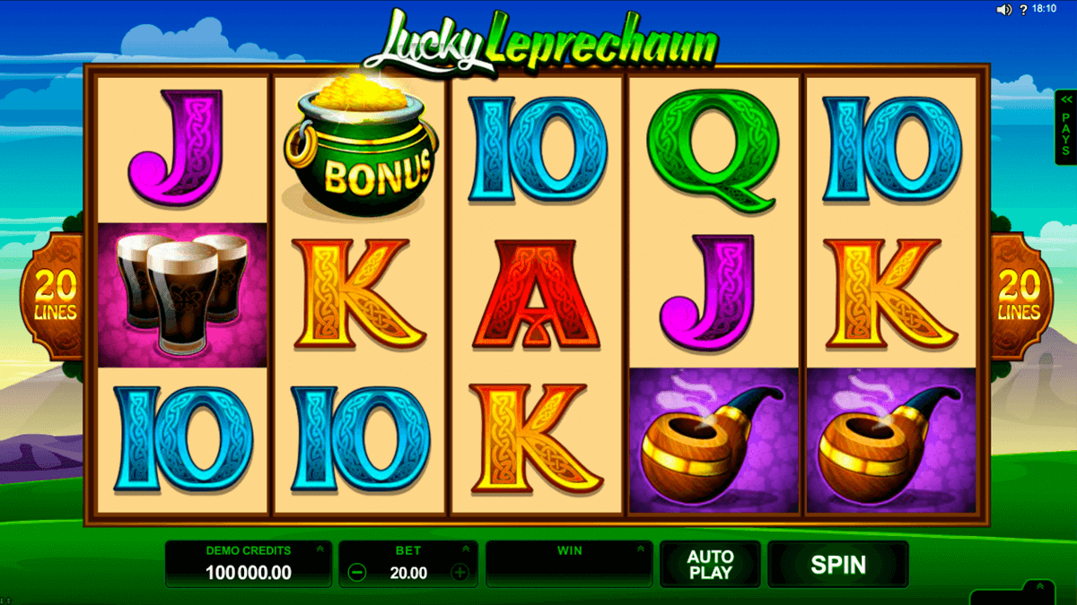 lucky leprechaun microgaming casinospil online