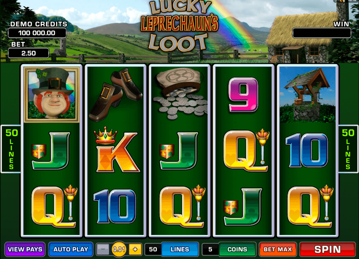 lucky leprechauns loot microgaming casinospil online