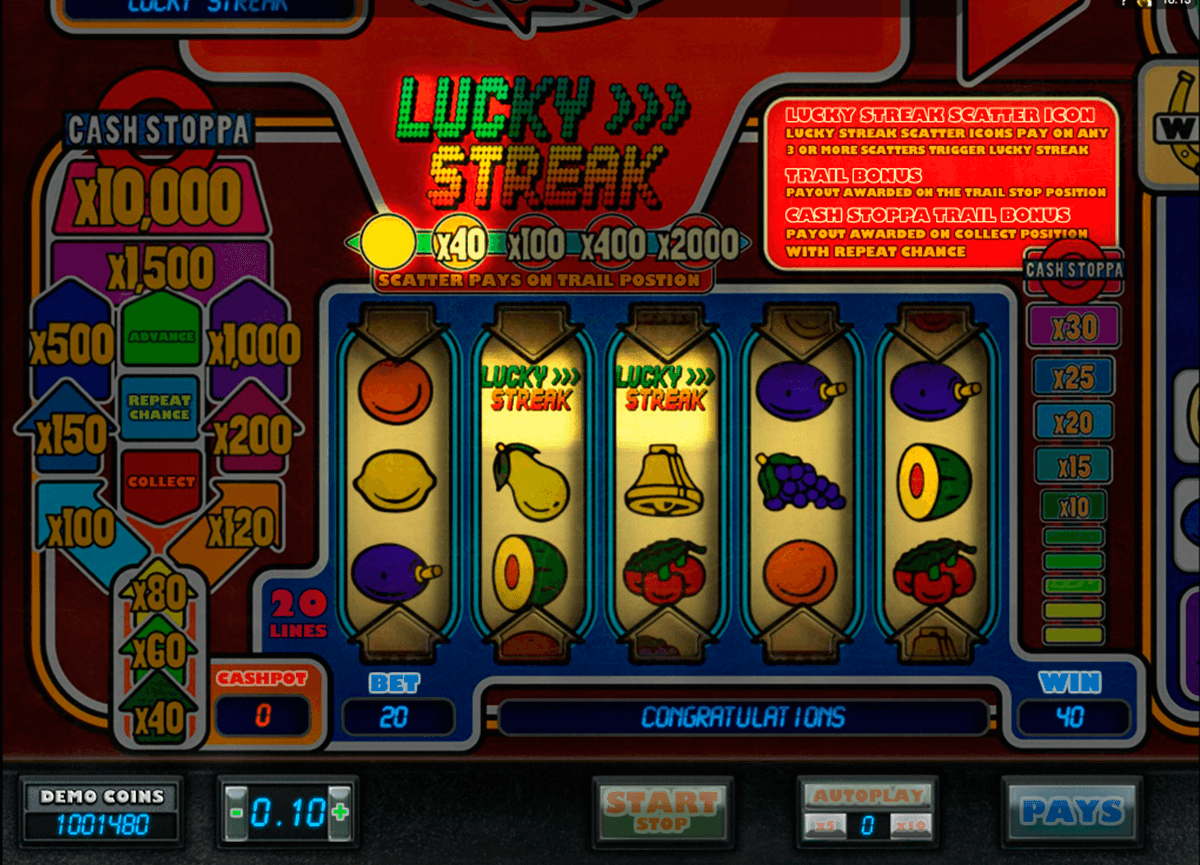 lucky streak microgaming casinospil online