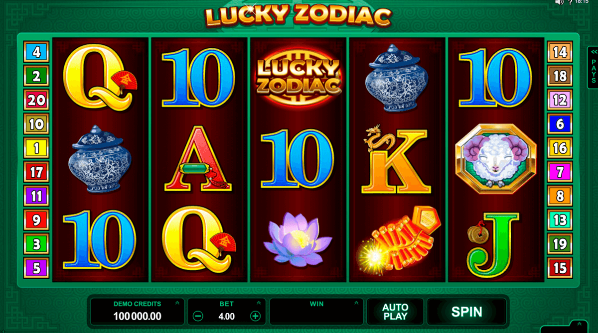 lucky zodiac microgaming casinospil online
