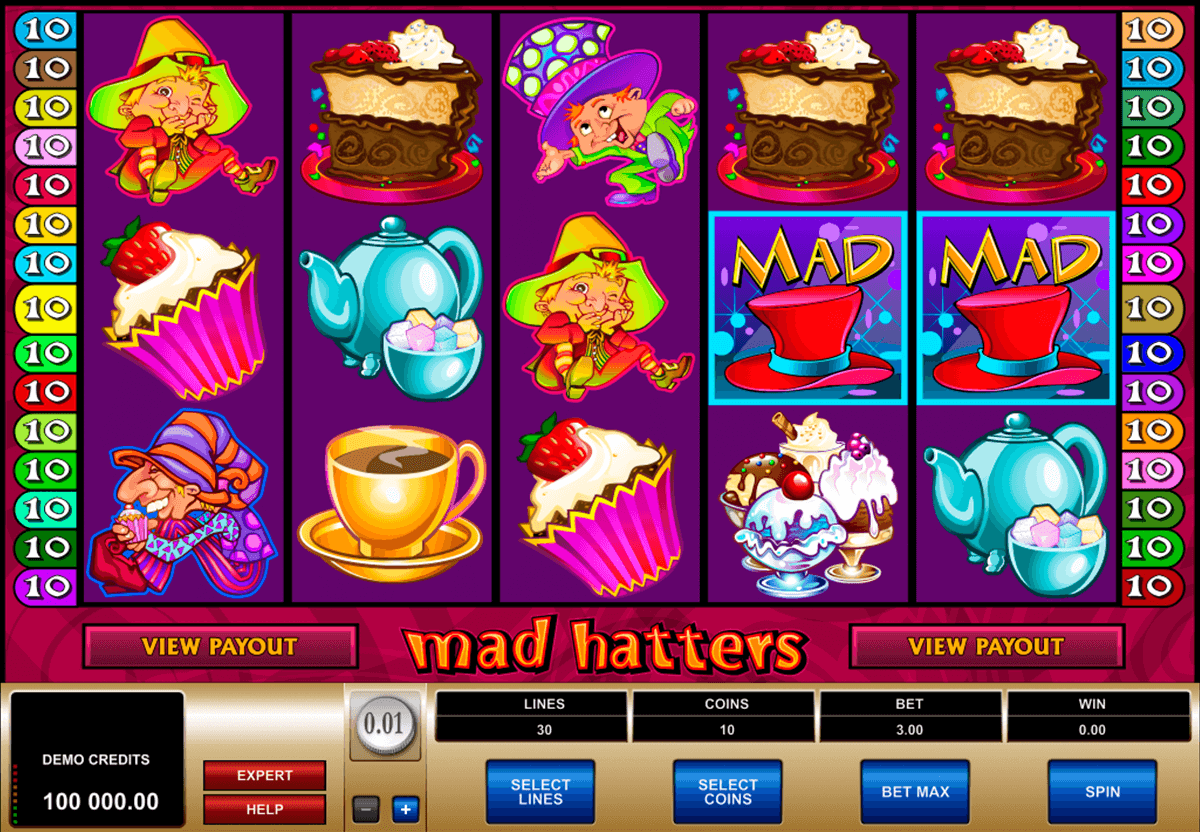 mad hatters microgaming casinospil online