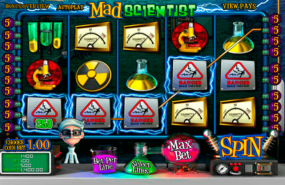 mad scientist betsoft casinospil online