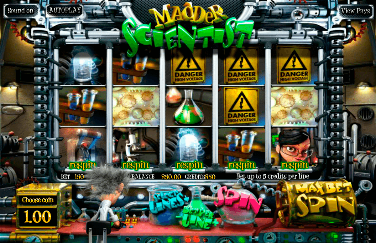 madder scientist betsoft casinospil online