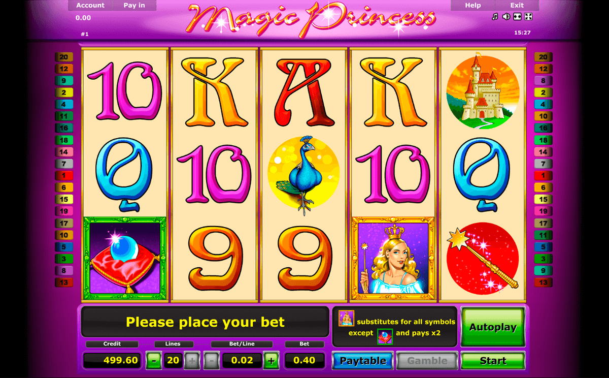 magic princess novomatic casinospil online