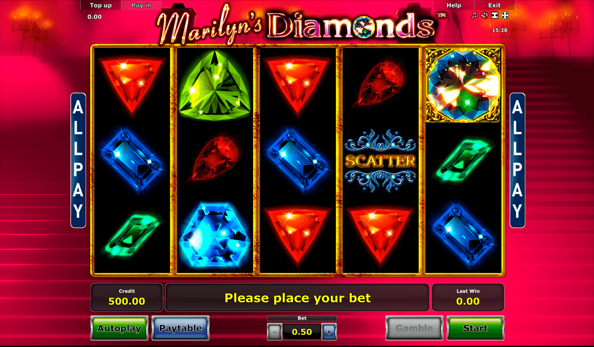 marilyns diamonds novomatic casinospil online