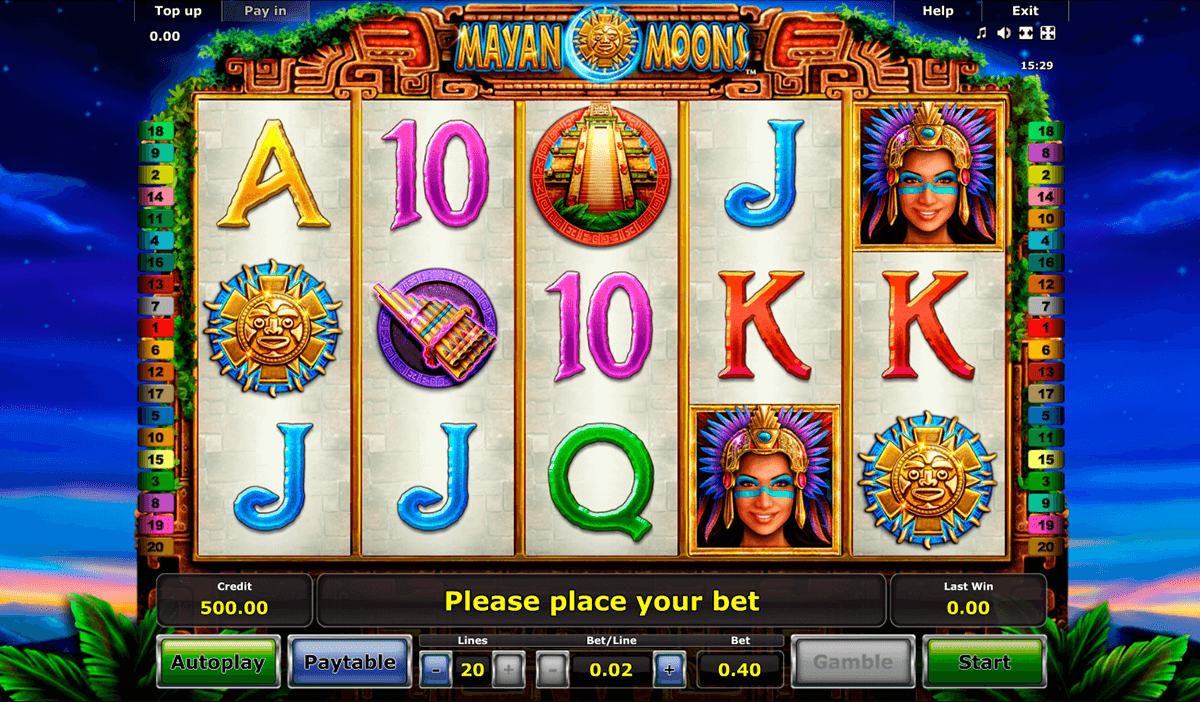 mayan moons novomatic casinospil online