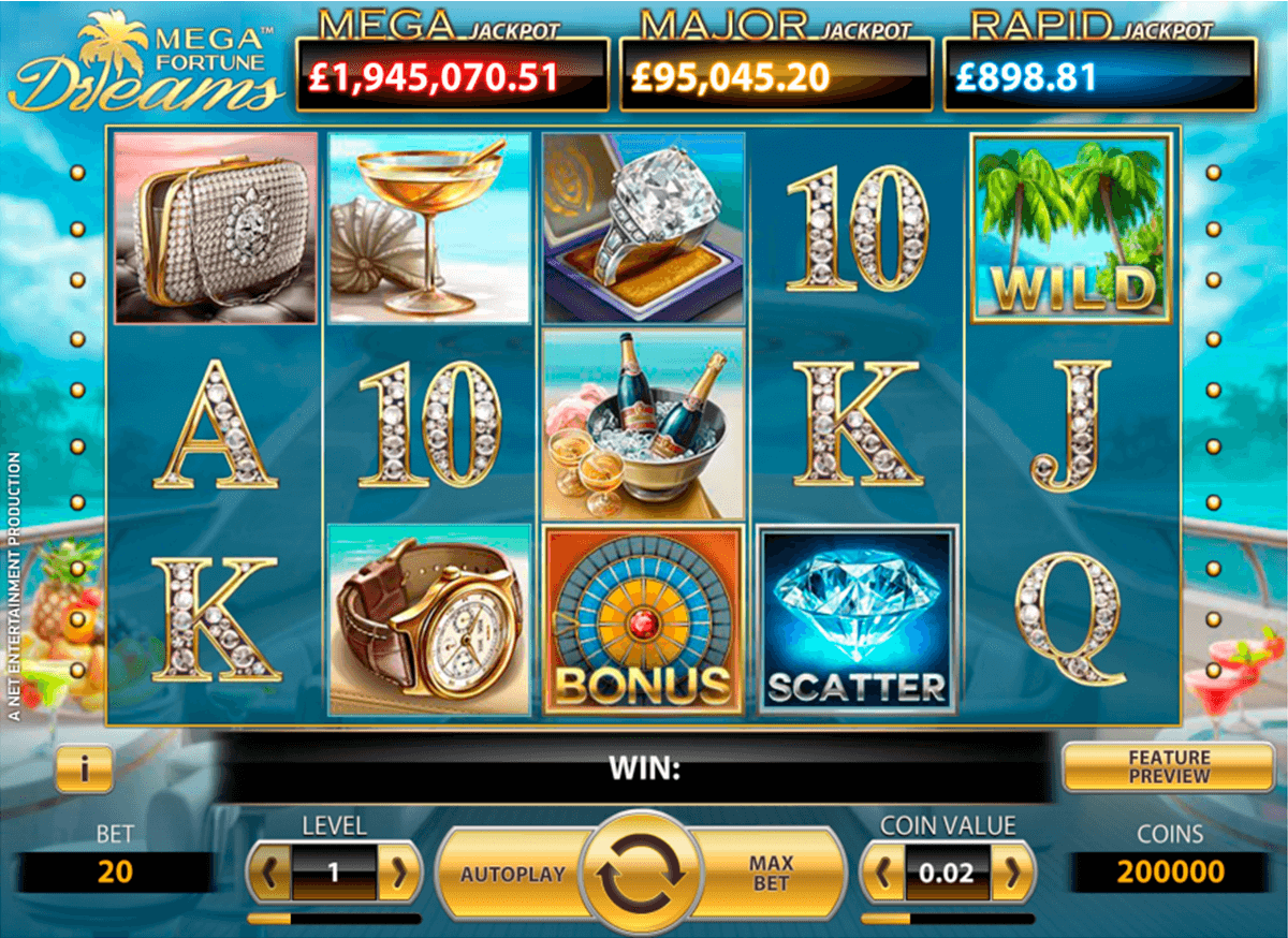 mega fortune dreams netent casinospil online