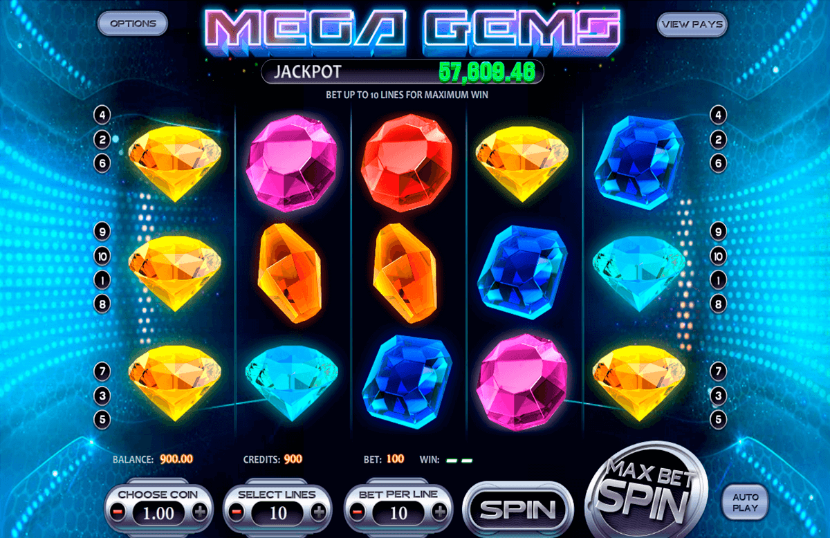 mega gems betsoft casinospil online