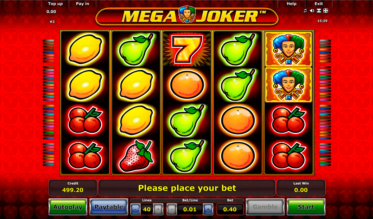 mega joker novomatic casinospil online