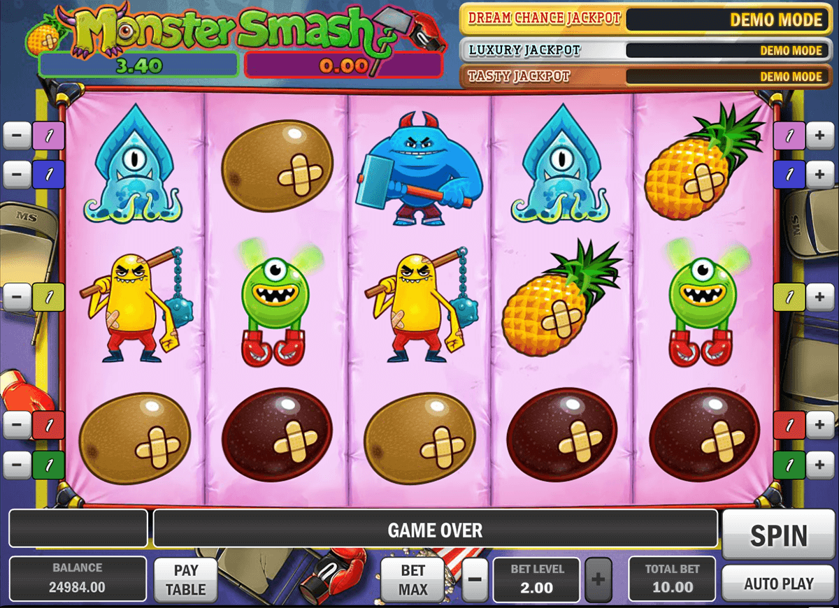 monster smash playn go casinospil online
