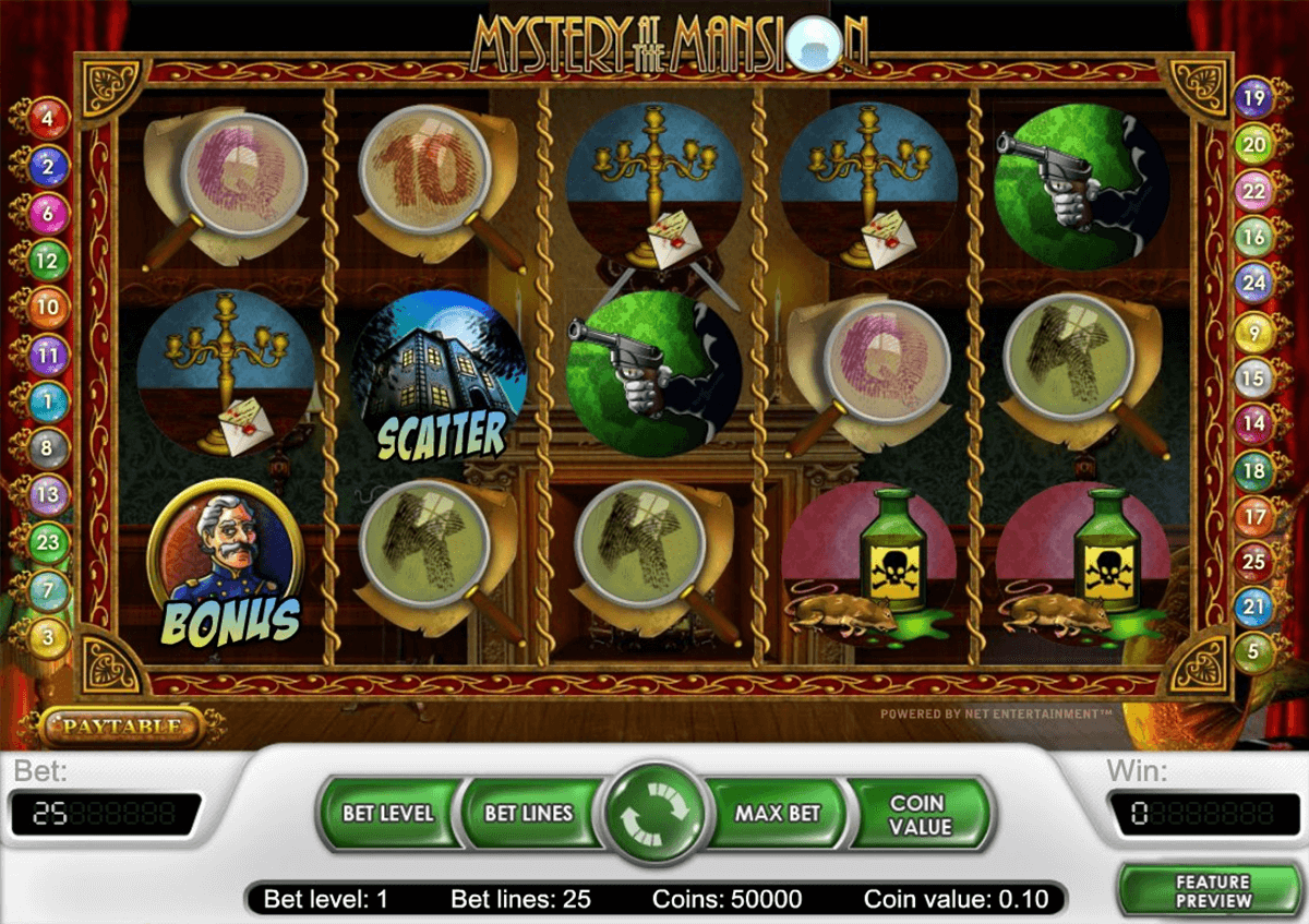 mystery at the mansion netent casinospil online