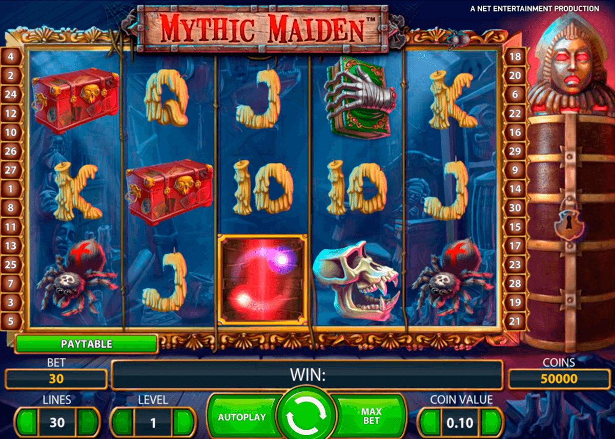 mythic maiden netent casinospil online