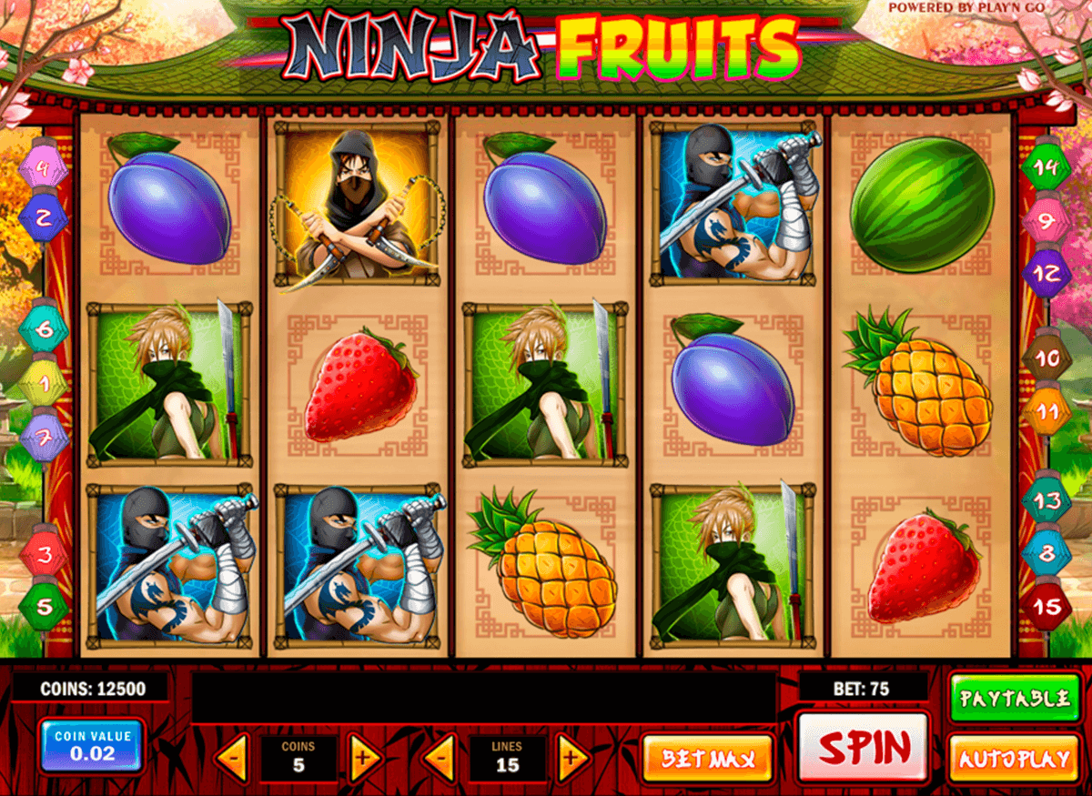 ninja fruits playn go casinospil online