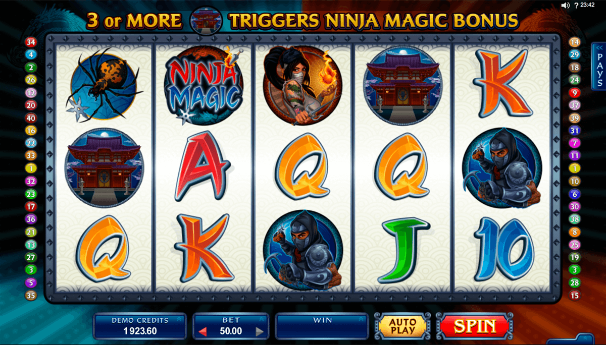 ninja magic microgaming casinospil online