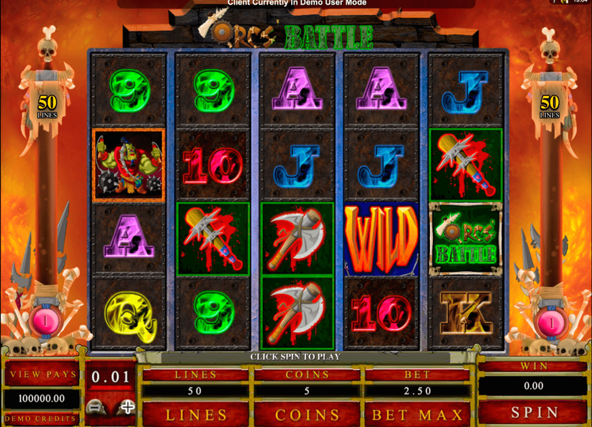 orcs battle microgaming casinospil online