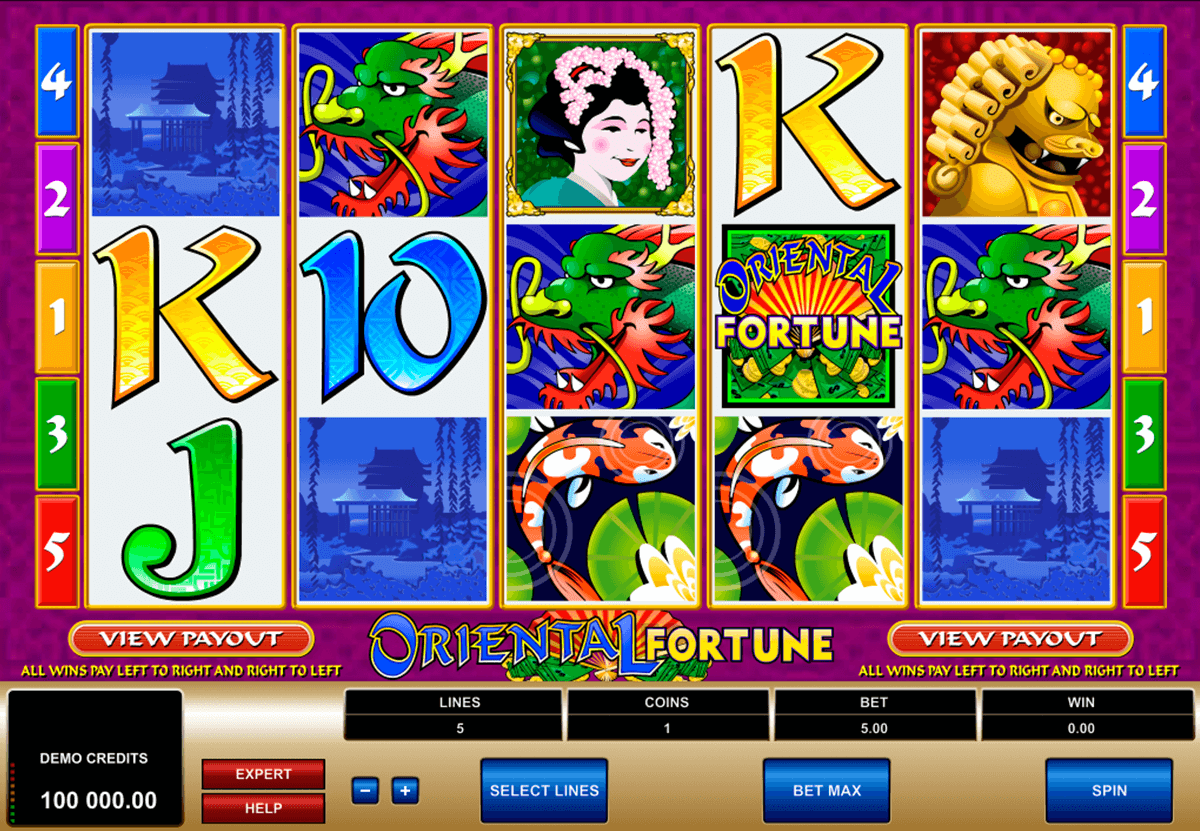 oriental fortune microgaming casinospil online