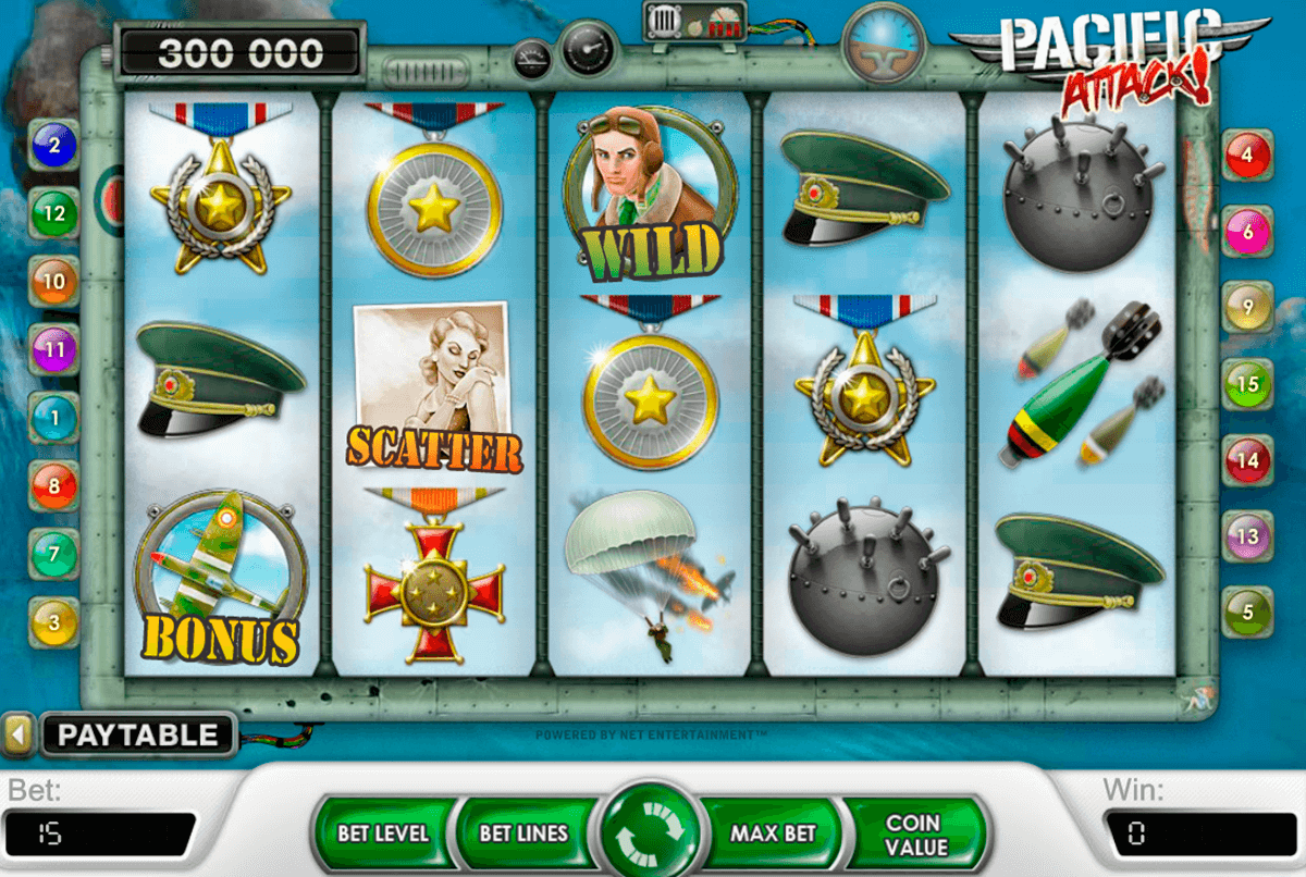 pacific attack netent casinospil online