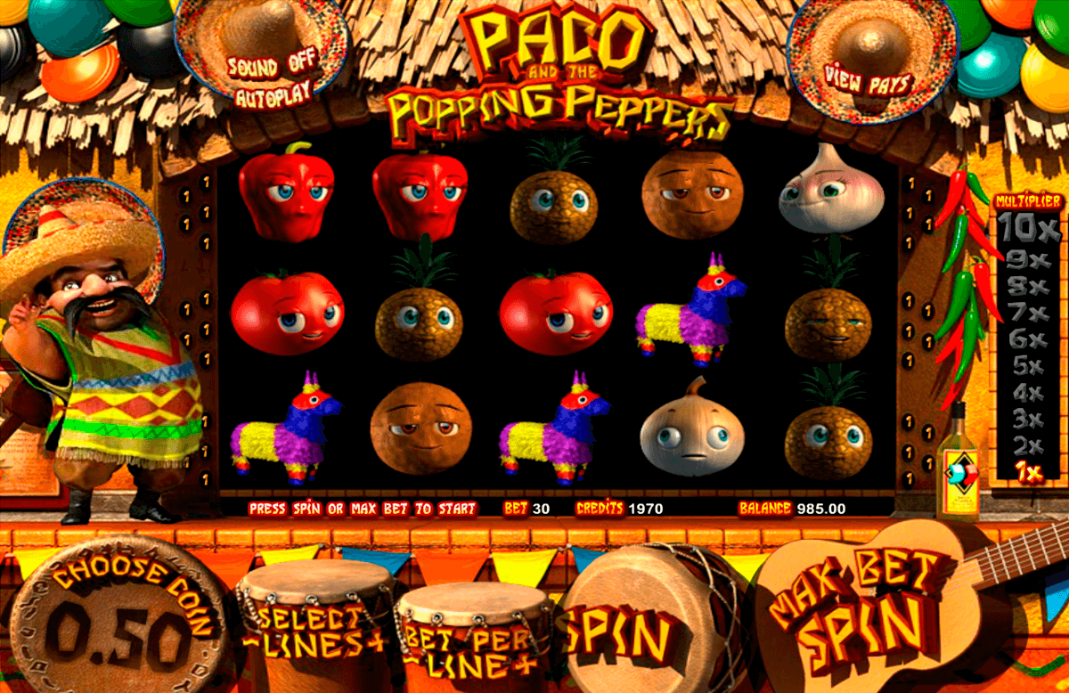 paco and the popping peppers betsoft casinospil online