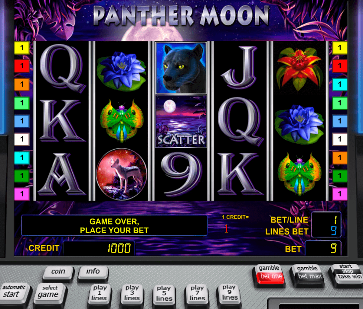 panther moon novomatic casinospil online