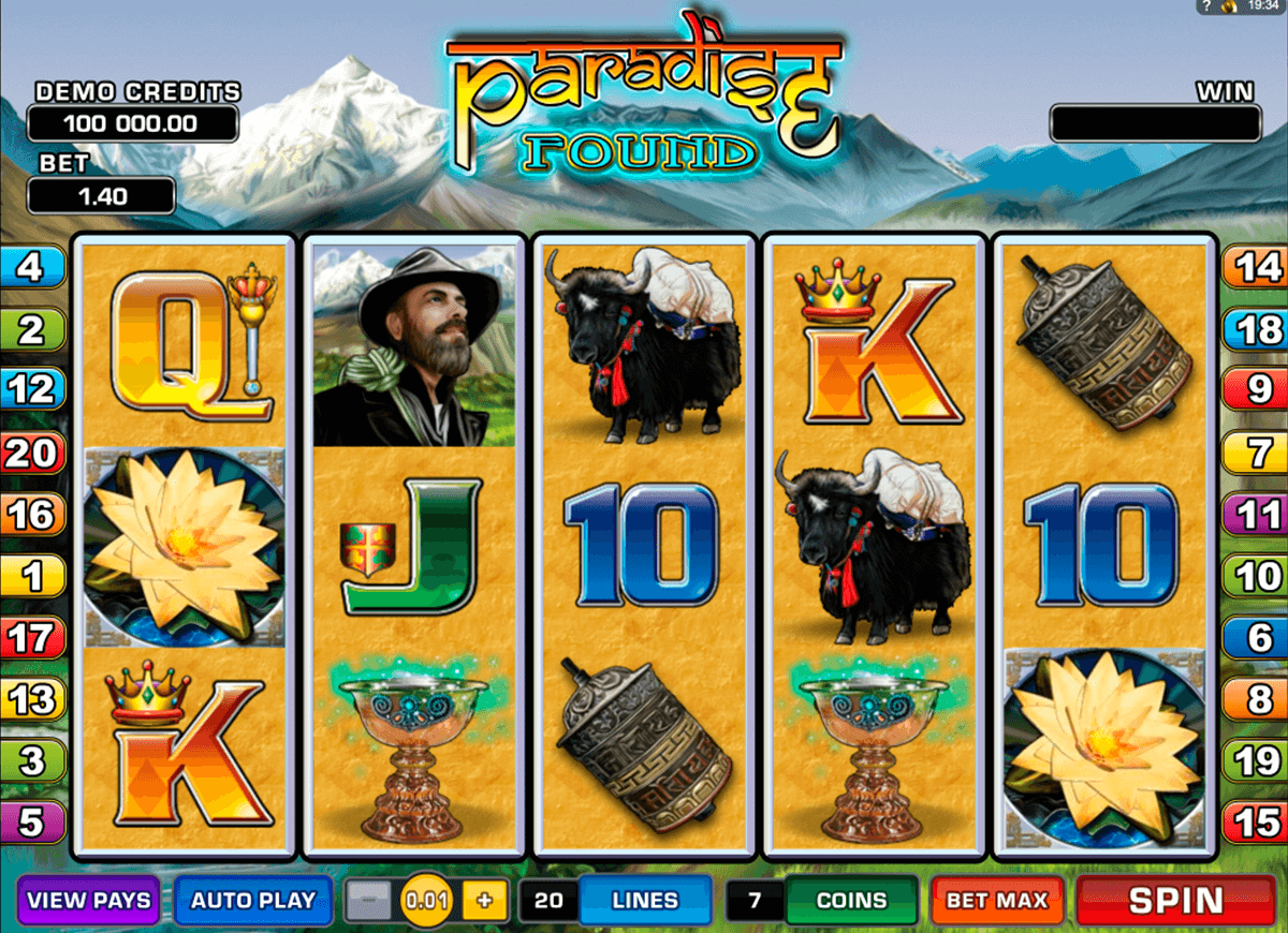 paradise found microgaming casinospil online