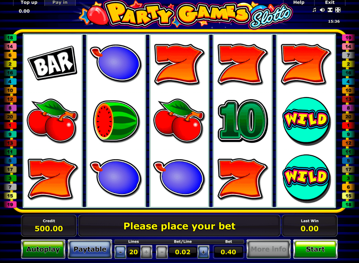 party games slotto novomatic casinospil online