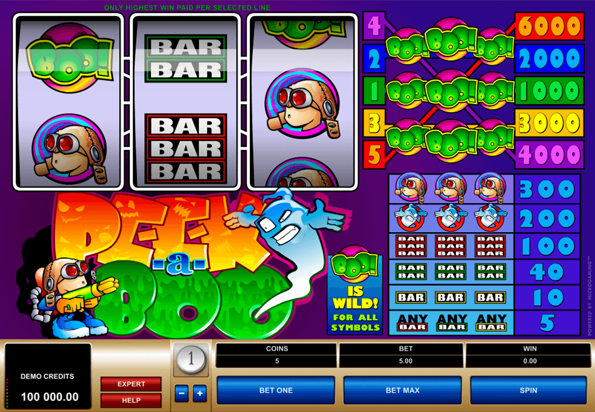 peek a boo microgaming casinospil online