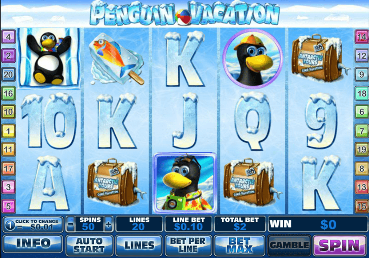 penguin vacation playtech casinospil online