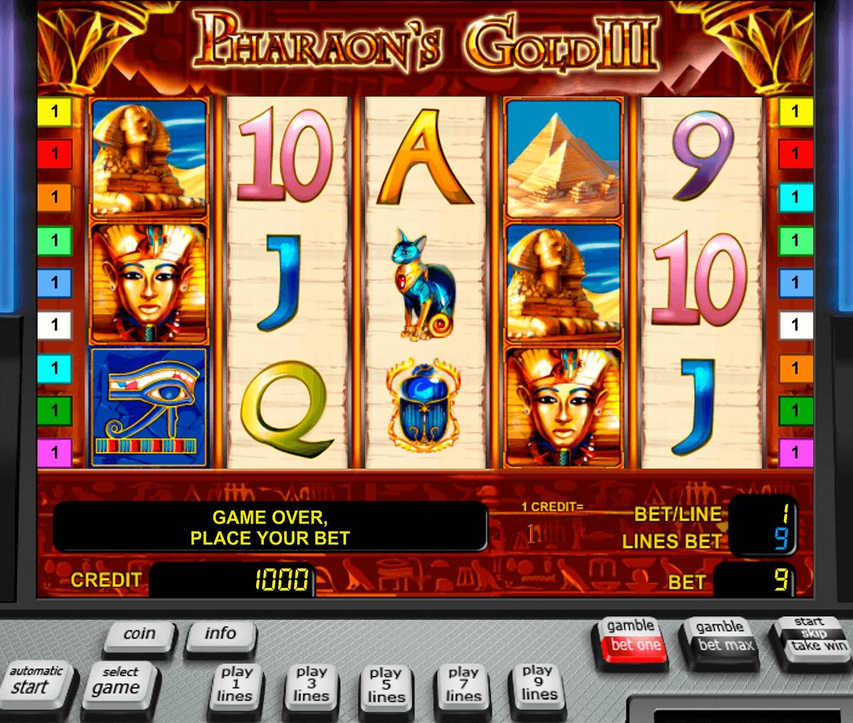 pharaohs gold iii novomatic casinospil online