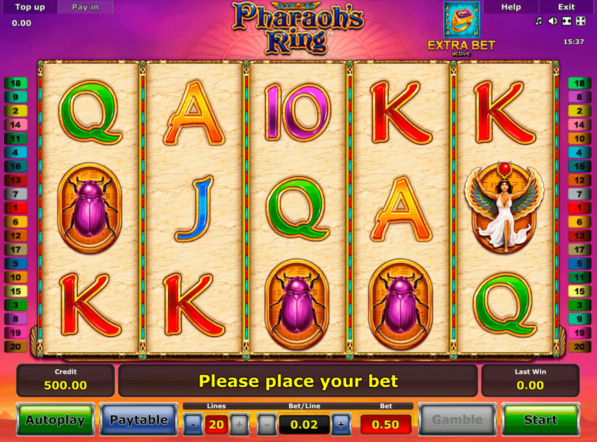 pharaohs ring novomatic casinospil online