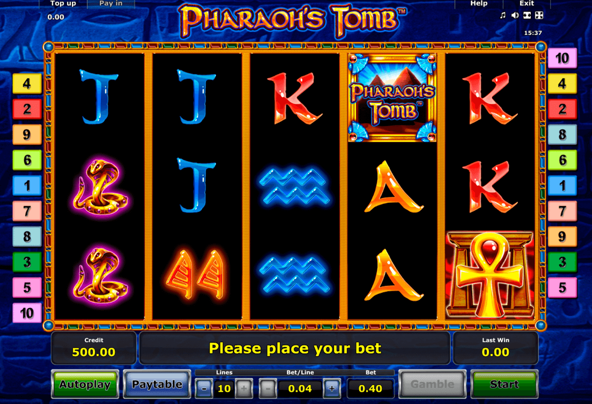 pharaohs tomb novomatic casinospil online