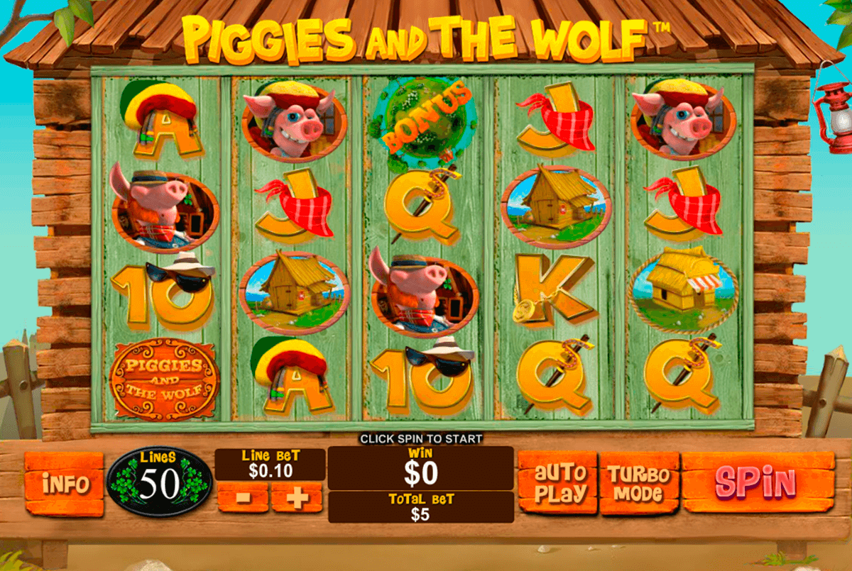 piggies and the wolf playtech casinospil online