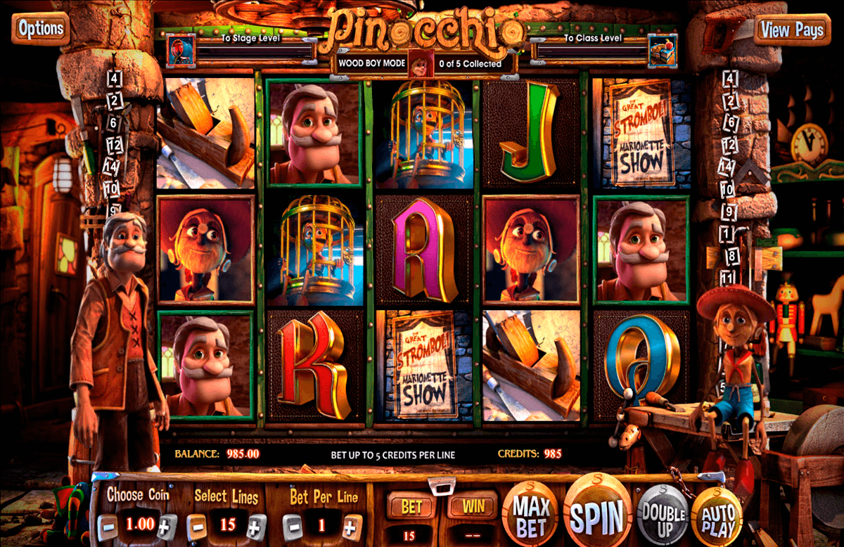 pinocchio betsoft casinospil online