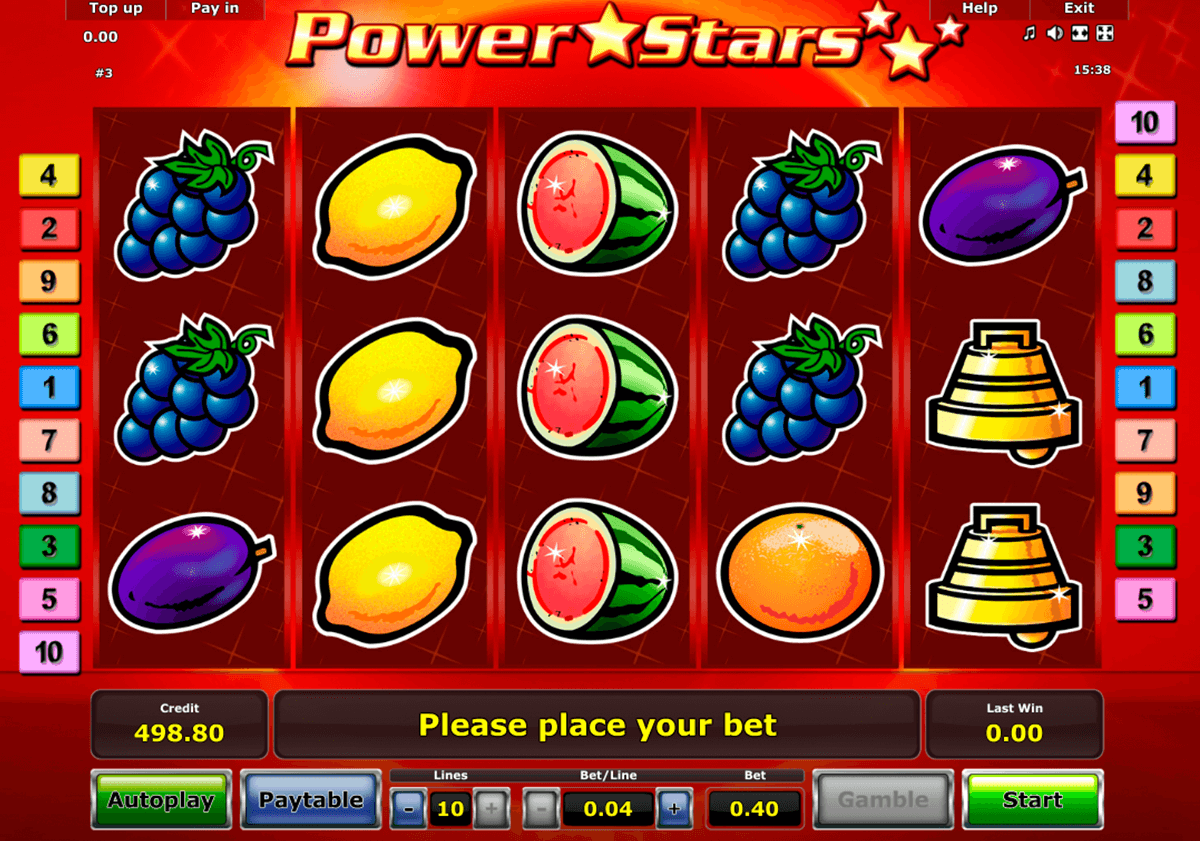 power stars novomatic casinospil online
