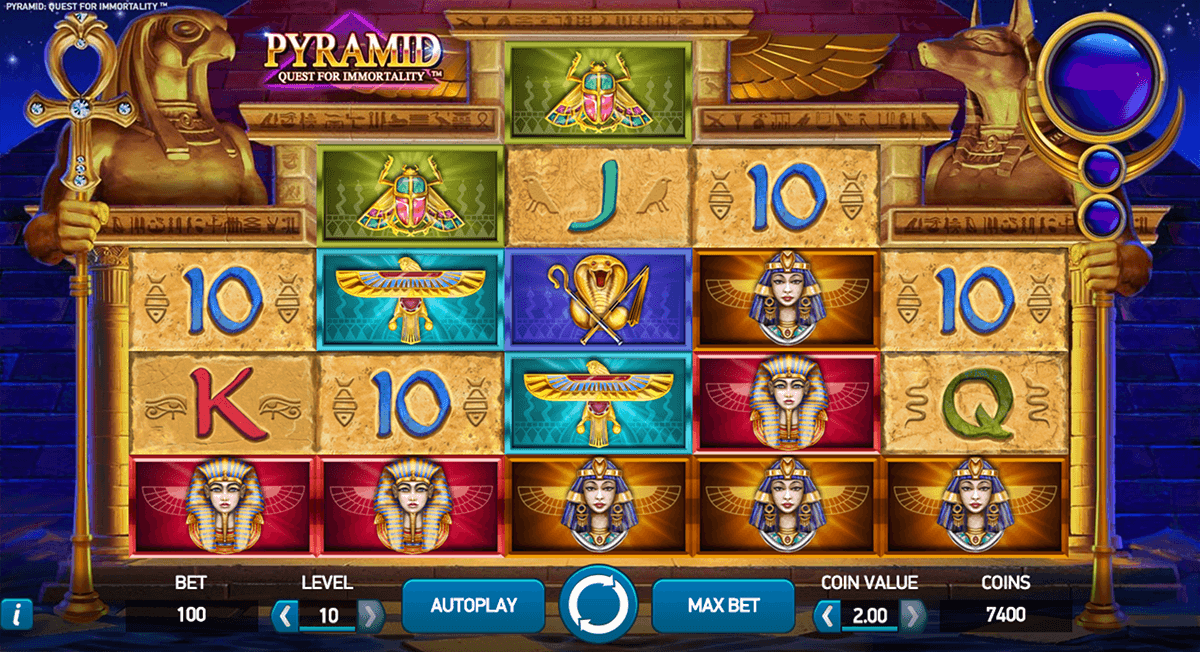 pyramid quest for immortality netent casinospil online