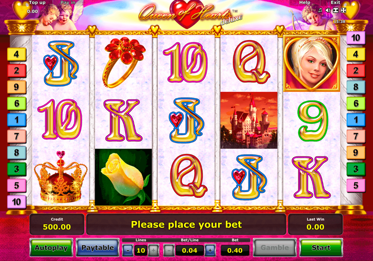 queen of hearts deluxe novomatic casinospil online