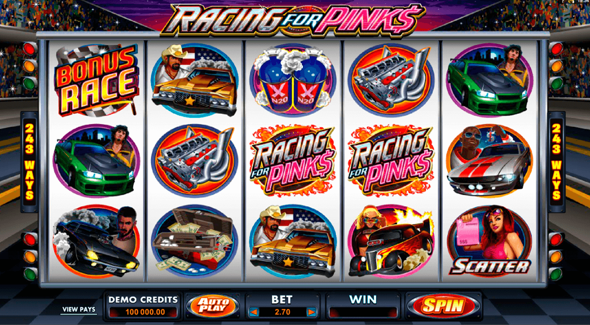 racing for pinks microgaming casinospil online